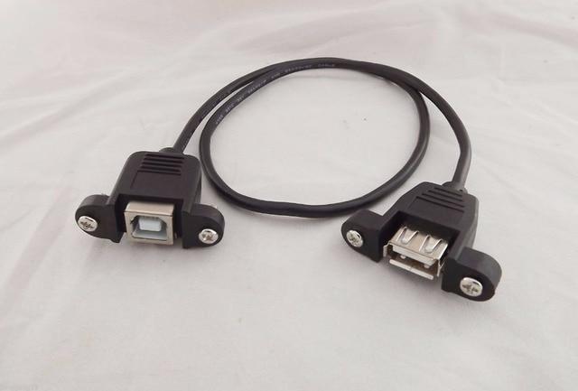 Cat 5 Cable Connector Screwfix: 1pcs USB 2.0 A Female To B Female Socket Panel Mount Screw Fix rh:aliexpress.com,Design