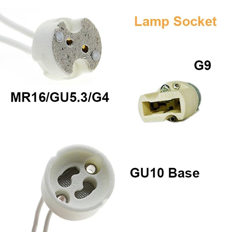 GU10 Socket Base Led Bulb Halogen CFL Lamp Light Holder Wire Connector C MF