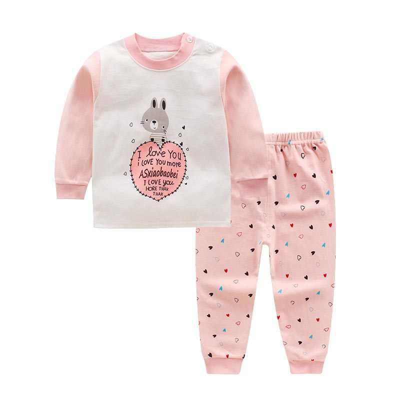 dbadb97f7 ... Autumn Baby Underwear Set Cotton Sportswear Long Sleeve T-Shirt Pants  Cartoon Baby Girl Boy ...