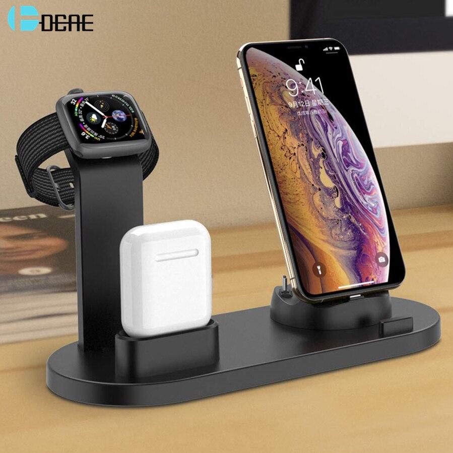 DCAE 3 in 1 Schnelle Lade Dock Station Für iPhone 11 XR XS Max 8 7 6s Samsung S10 s9 USB Ladegerät für Apple Uhr 2 3 4 5 AirPods