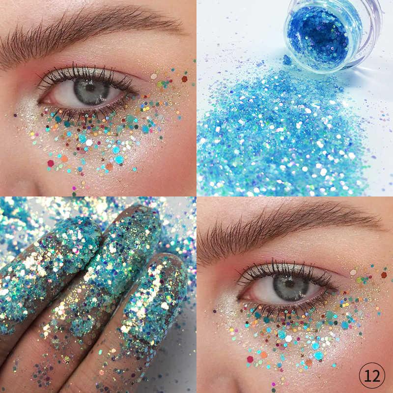 Pudaier 34Color Shimmer Pearlescent Eye Shadow Body Hairs Lips Diamond Sequins Eyeshadow Palette Paletas De Sombras Nuevas TSLM2