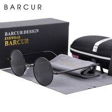 Солнцезащитные очки barcur круглые зеркальные в стиле ретро