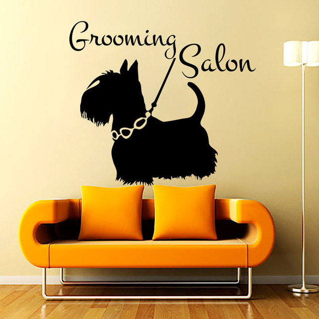 Art Decor Vinyl Removable Wall Decals Grooming Salon Petshop Wall ...