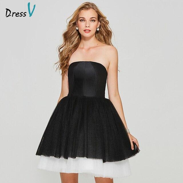 Dressv sample elegant homecoming dress ball gown strapless zipper up short mini tulle homecoming&graduation dresses