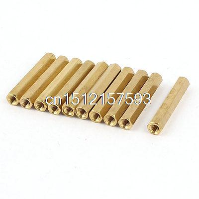 10Pcs M3 Male Thread Hex Standoff Hexagonal Spacer 30mm Long 20pcs m3 copper standoff spacer stud male to female m3 4 6mm hexagonal stud length 4 5 6 7 8 9 10 11 12mm