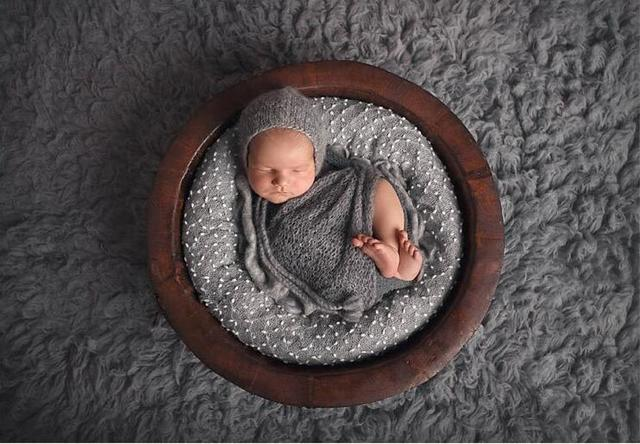 150*100cm Stretch Knit Bobble Wraps Blanket Basket Filler Stuffer Newborn Baby Photography Props photography Studio Background