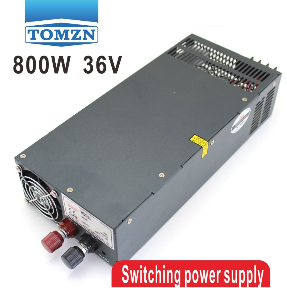 800W 0V TO 36V 22.2A Single Output Switching power supply AC to DC 110V or 220V s 800 36 single output 800w 36v dc switching power supply driver transformer 220v ac to dc36v smps for cnc machine diy led cctv