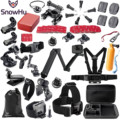 SnowHu for Gopro Accessories set for go pro hero 7 6 5 4 3 kit 3 way selfie stick for Eken h8r / for xiaomi for yi EVA GS02