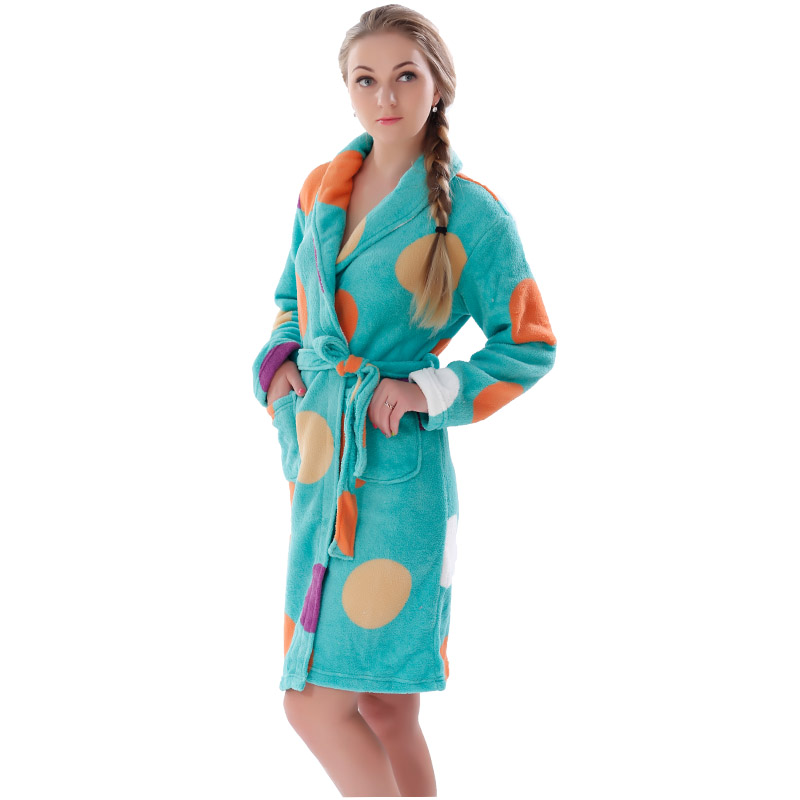 aff5ab9ace Women Robes Coral Fleece Bathrobes Female Kimono Robes Home Clothing  Sleepwear Warm Nightgowns Dressing Gowns Robes For Women-in Robes from  Underwear ...