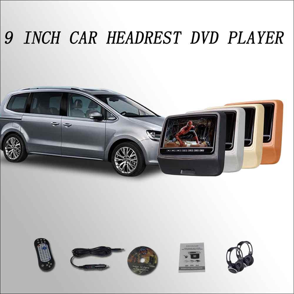 Bigbigroad для VW Sharan подголовник автомобиля монитор цифровой ЖК-экран 2*9 dvd плеер с USB/SD /IR/FM/динамика/игры/HDMI ...