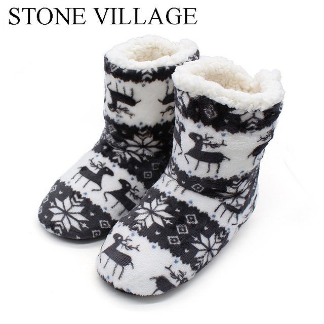 New Arrival 2018 Winter Shoes Woman Home Slippers Girls Christmas Indoor Shoes Warm Contton Slipper Plush Pantufa Soft 6 Colors