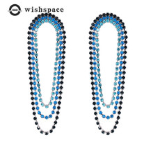 European and American popular han edition  contracted personality tassel of gold plating fashionable woman earrings