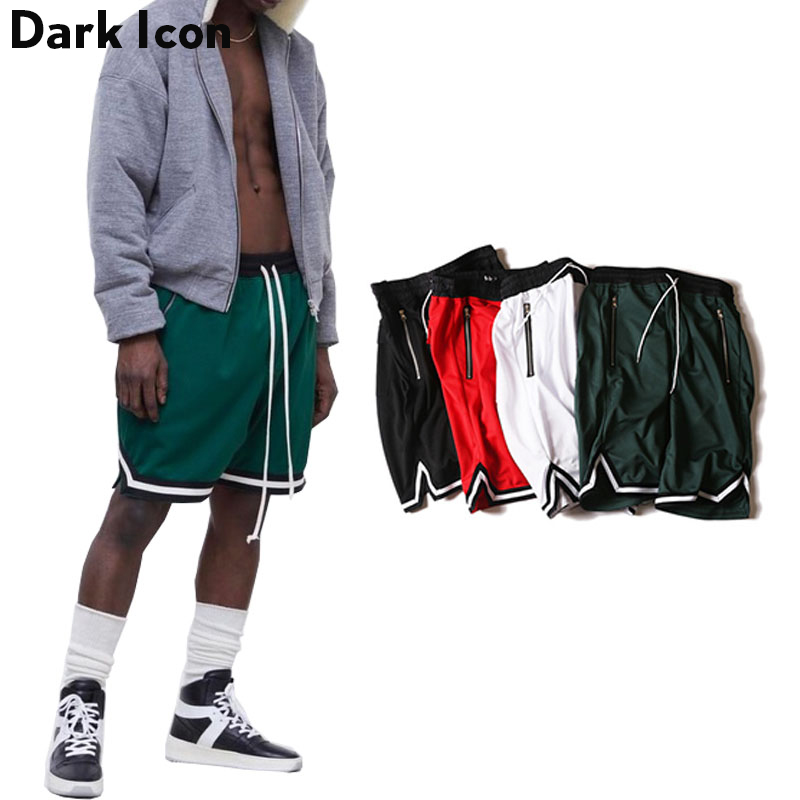 DARK ICON Färg Kontrast Drop Crotch Hip Hop Mens Shorts 2018 Sommar - Herrkläder - Foto 6