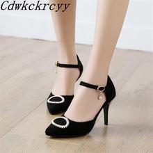 Женские замшевые сандалии стразы простые босоножки на высоком
