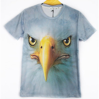 The New Three Dimensional Creative Personality Patterns Animal Print Short Sleeved T Shirt Men 3D Clothes