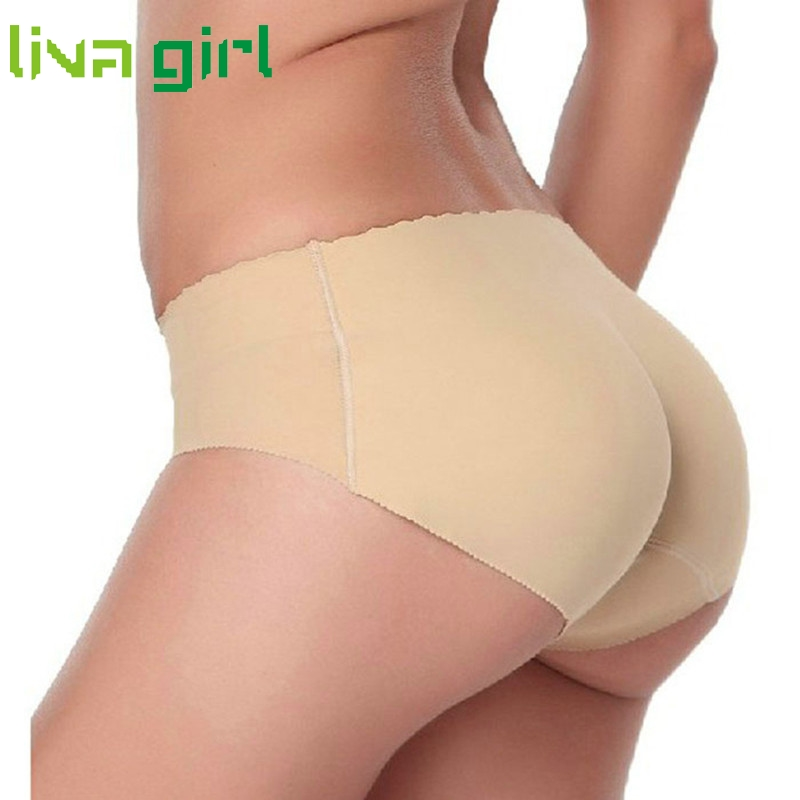 97c12bfd1e30d Underwear Women Seamless Sexy Lingerie Underwears Panties Briefs Hip Butt  Pads Pantalones Mujer Silicone Hip padded