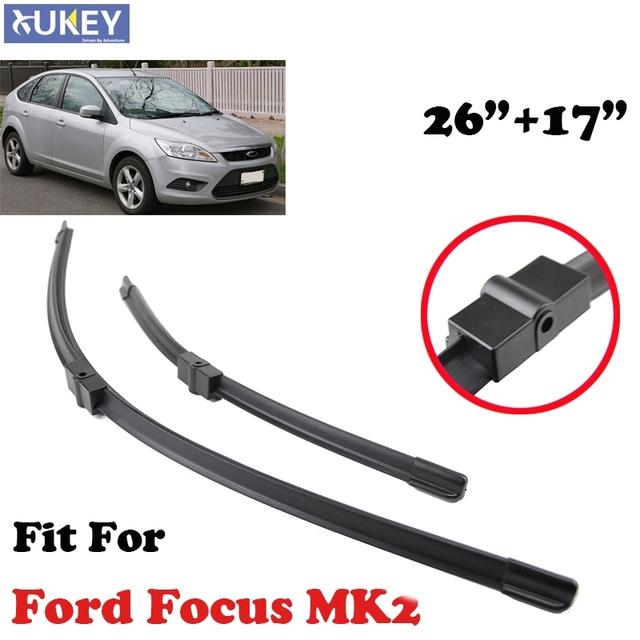 Xukey Windscreen Wiper Blades For Ford Focus 2 Mk2 26 17 2004 2005 2006 2007 2008 2009 2010 2017 Windshield Front Window