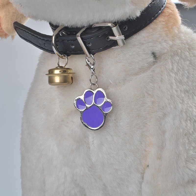 ใหม่สัตว์เลี้ยง Fashional รอยเท้าเหมาะสำหรับสุนัข Cat อุปกรณ์เสริม Footprints Rhinestone จี้สำหรับสัตว์เลี้ยงขนาดเล็กจี้