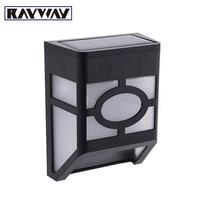 RAYWAY Wholesale 10pcs/lot IP65 waterproof LED solar wall lamps light sensor Outdoor Garden path light Corridor Yard Fence Lamp