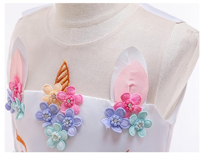 HTB1TU40QbPpK1RjSZFFq6y5PpXaj Unicorn Dresses For Elsa Costume Carnival Christmas Kids Dresses For Girls Birthday Princess Dress Children Party Dress fantasia