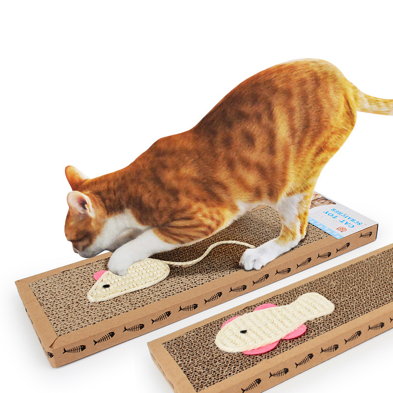 2019 New Corrugated Paper Cats Scratch Board Grinding Nails Interactive Protecting Furniture Cat Toy Cat Scratcher Toy