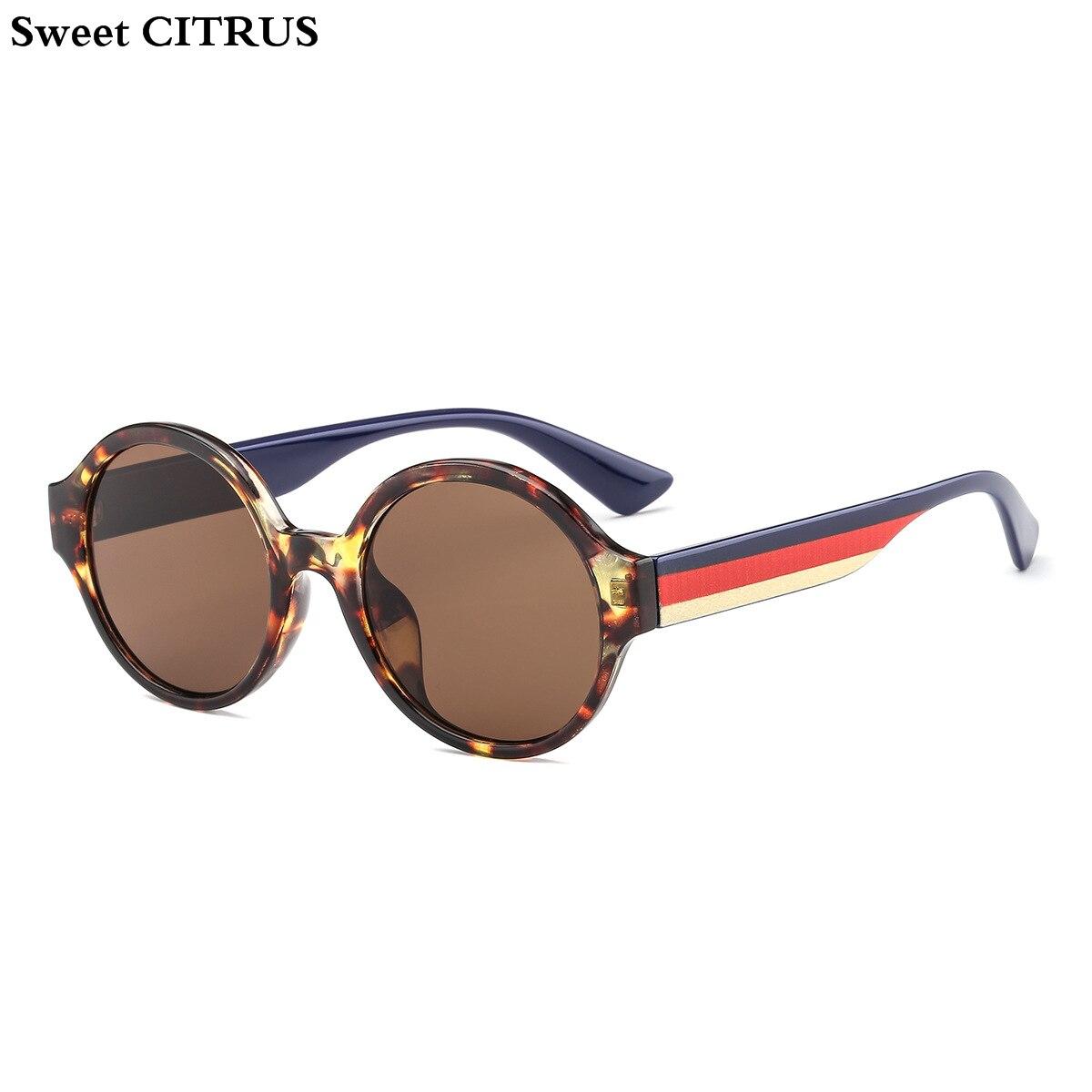 Sweet CITRUS 2018 Round Sunglasses Women Men Luxury Italy Br