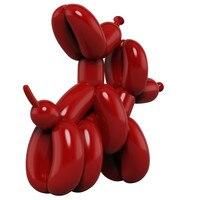 Новое произведение американского искусства смолы ремесло Jeff Koons воздушные шары фигурка собаки статуя грязный воздушный шар собака подарок