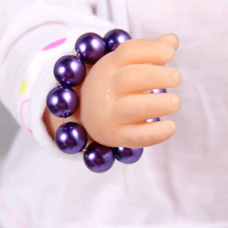 1pcs Doll Accessories Purple Pearl Bracelet Fit For Americal Girls 43cm Doll Baby Born Zapf A14