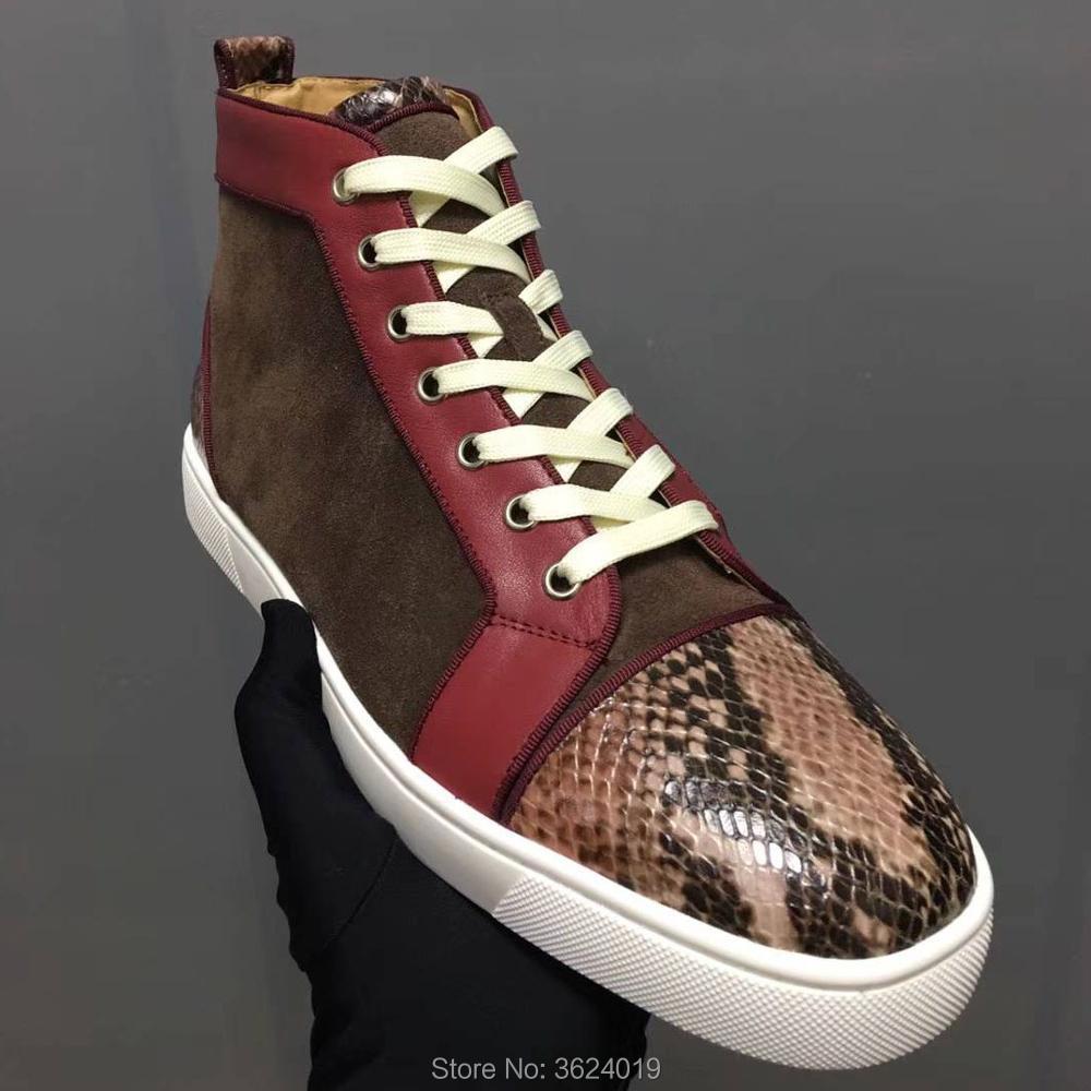 Rojos Zapatillas Cuero Mocasines Clandgz Flor Calidad Mezclado Serpientes Primavera Multiple Otoño Calzado Zapatos 2018 Alta Inferiores De Color Hombre qH0xPxwA8