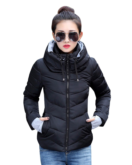 2016 New Arrival Ladies wadding Coat Winter Jacket Outerwear Short Wadded Jacket Female Padded basic thick Parka Overcoat Women