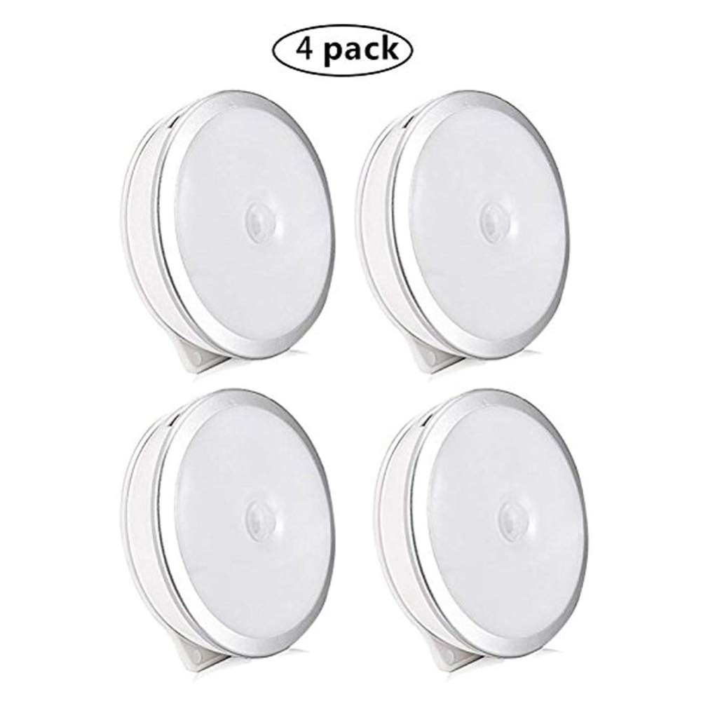 Motion Sensor Led Light, 3 Modes 6 LED Rechargeable Motion Sensor LED Night Light with USB Cable Auto On/Off,Cordless Wall Light