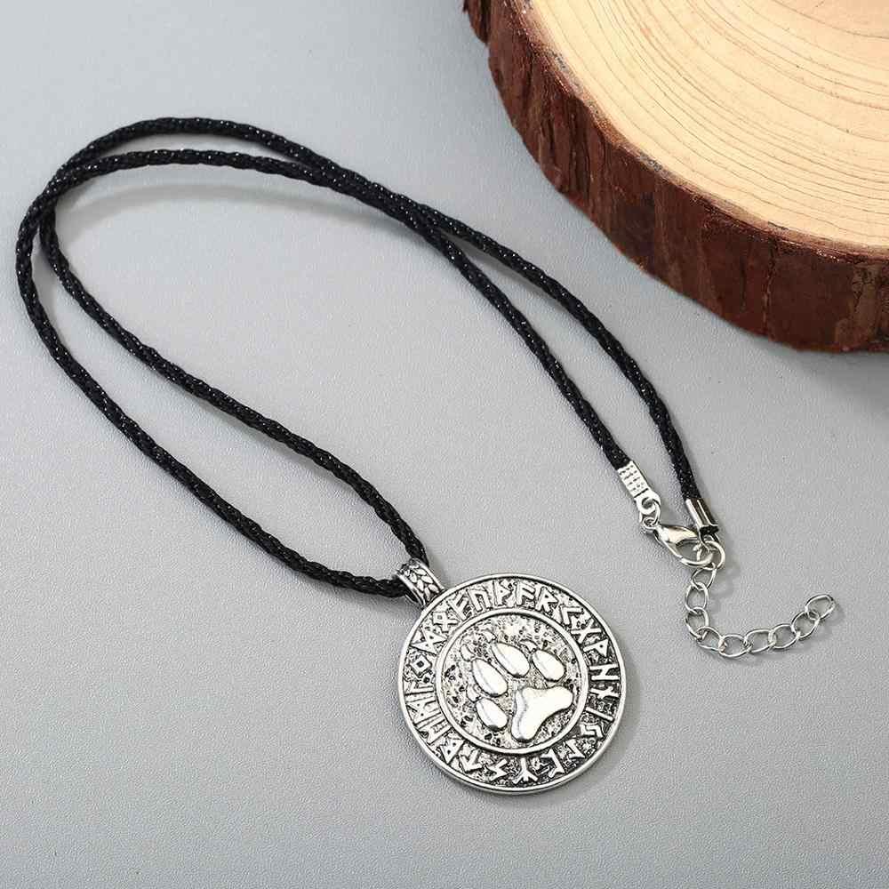 قلادة السلافية فيليس رمز kolovmouse وولف الدب باو تميمة الفايكنج الرونية تاليسمان قلادة مجوهرات الرجال الوثنية