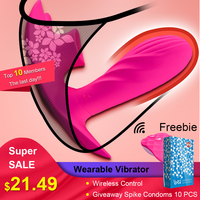 Beilile Wearable Vibrator for Women Oral Sex Tongue Licking Toys for Adults Remote Control Panties Lay On Dildo USB Charging