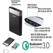 Vinsic 20000 mah Energienbank Schnellladung Typ C 3A Typ C Powerbank für Xiaomi Mi5 Mi6 Samsung S8 Note 8 Externe Batterie ladegerät