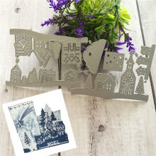 3D House Shapes Metal Cutting Dies Stencil Scrapbooking Photo Album Card Paper Embossing Craft DIY Cutting Dies(China)