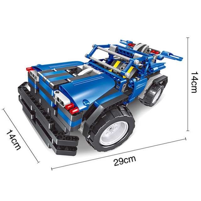 Build Rc Car >> Us 34 88 46 Off 443pcs 2in1 Transform Car Assemble Rc Car Build Stacking Blocks Car Kit Track Race Car Set Education Toys Gift For Children Boy In