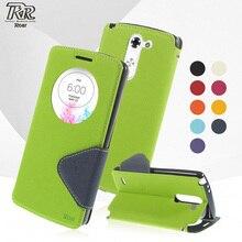 Магнитная флип смартфон Чехол для LG G3 Стилусы D690N D690 рев Корея Дневник окном View кожа Стенд Coque Fundas