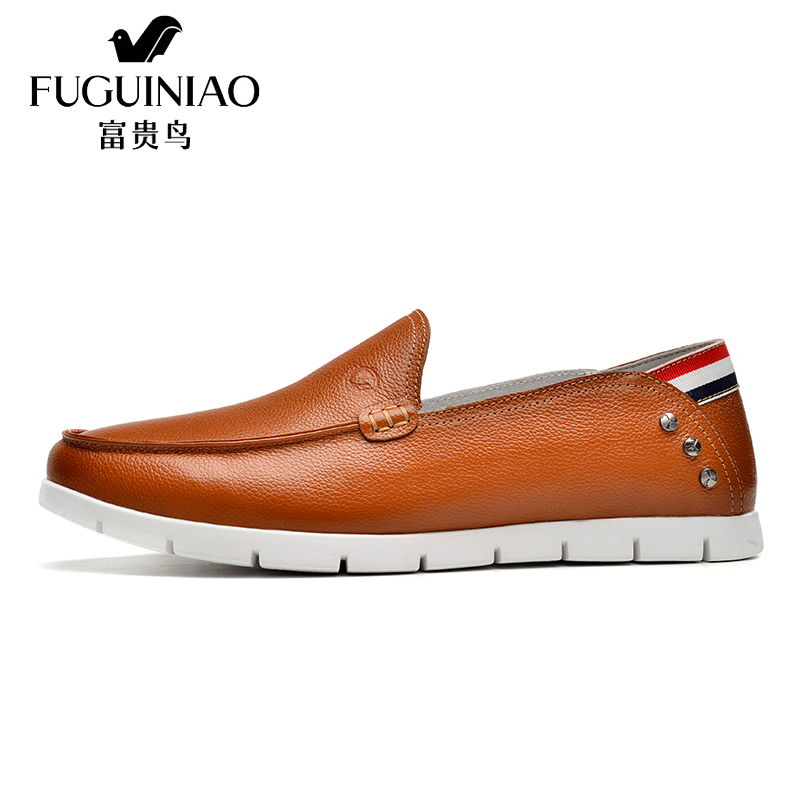 FUGUINIAO Brand High Quality Genuine Leather Men Walk Shoes Soft Moccasins Loafers Fashion Brand Men Flats Comfy Driving Shoes 2017 new brand breathable men s casual car driving shoes men loafers high quality genuine leather shoes soft moccasins flats