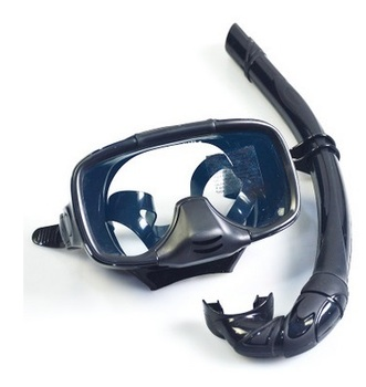 1set Diving Mask Snorkel Gear Lens and Silicone Scuba Diving Equipment Swim Glasses Mask Free Shipping Swim Beach Bathing Mask