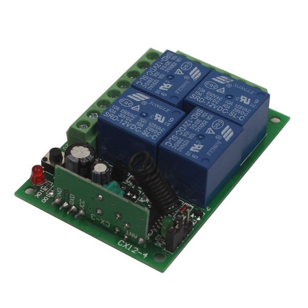 12V 4CH Channel Relay RF Wireless Remote Control-11