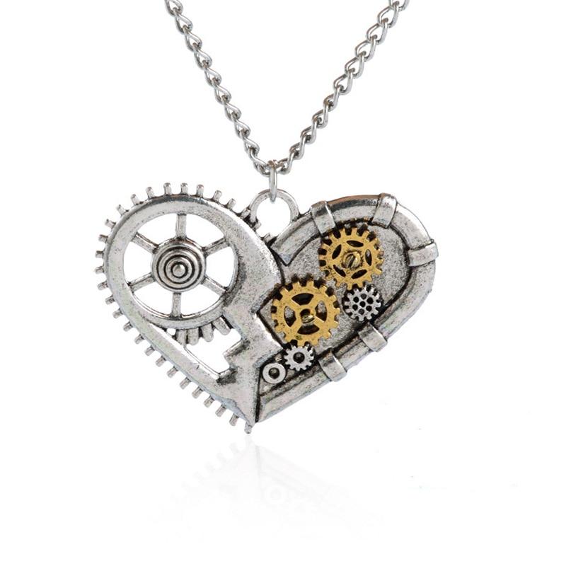 ISINYEE Fashion Crystal Key Heart Anker Hanger Beaded Chain Steampunk - Mode-sieraden - Foto 2
