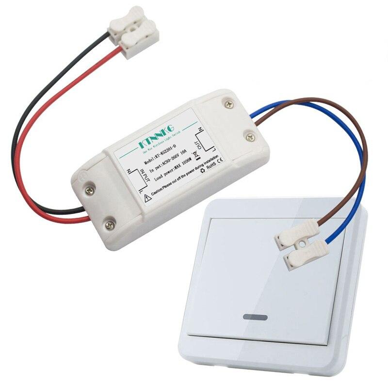 Kit d'interrupteur de lumière sans fil commutateurs de télécommande d'alimentation murale pour lampes ventilateurs appareils 433 Mhz RF récepteur par défaut sur