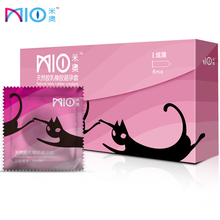 MIO Condoms 6pcs/lot Pink Rose Aromatic Ultra-Thin Lubricants Natural Latex Condom Intimate Goods Penis Sleeve Adult Sex for Men