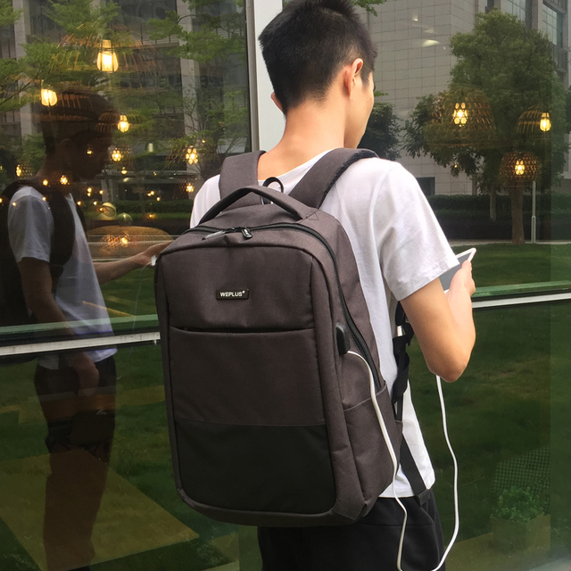 Multifunction computer USB charging 15.6 inch Laptop Backpack men School Bag Large Capacity Casual Style Water Resistant bags 5