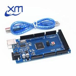 Image 1 - 10sets Mega 2560 R3 Mega2560 REV3 10pcs ATmega2560 16AU Board + 10pcs USB Cable CH340G(lan)