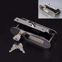 High Quality Recessed Invisible Handle Door Cabinet Lever Mortise Lock Bathroom Kitchen Balcony Sliding Door Lock