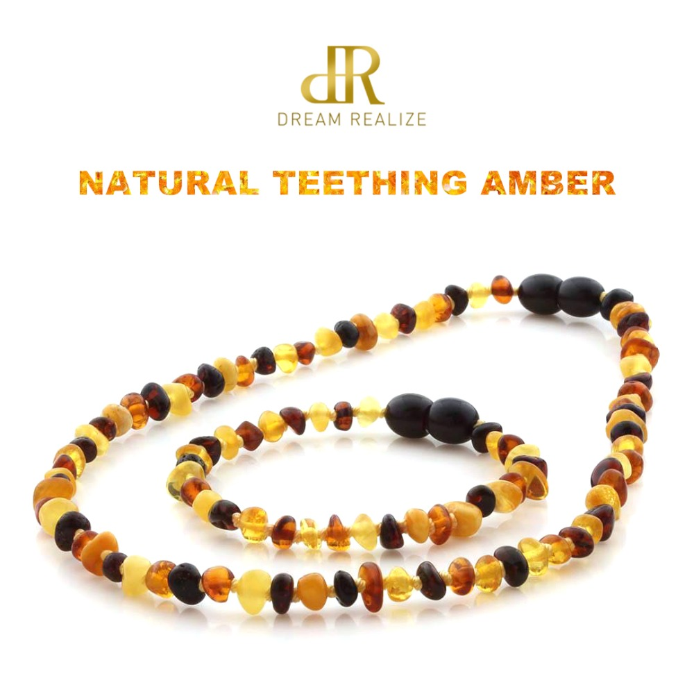 HTB1TU5VBNuTBuNkHFNRq6A9qpXaZ DR Classic Natural Amber Necklace Supply Certificate Authenticity Genuine Baltic Amber Stone Baby Necklace Gift 10 Color 14-33cm