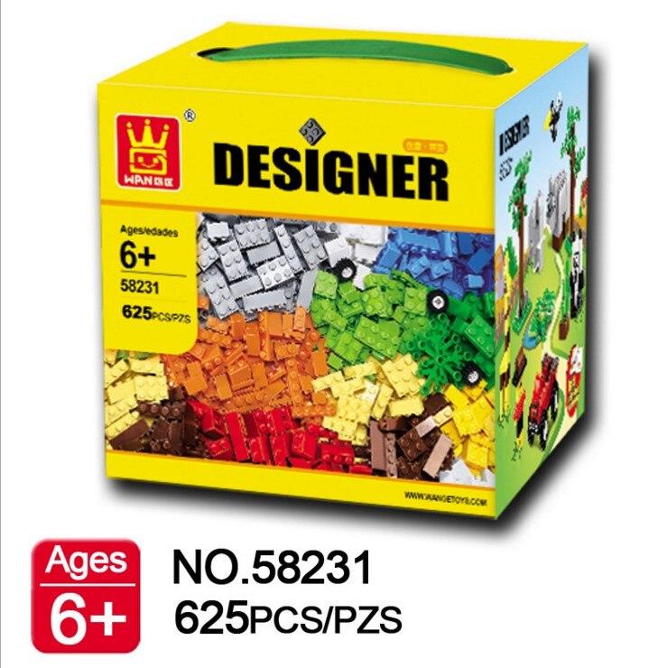 625 шт. Wange Дизайнер DIY Творческий образования собрать строительных Конструкторы цифры Модель Кирпичи Для детей Игрушечные лошадки Совместимость с Lego