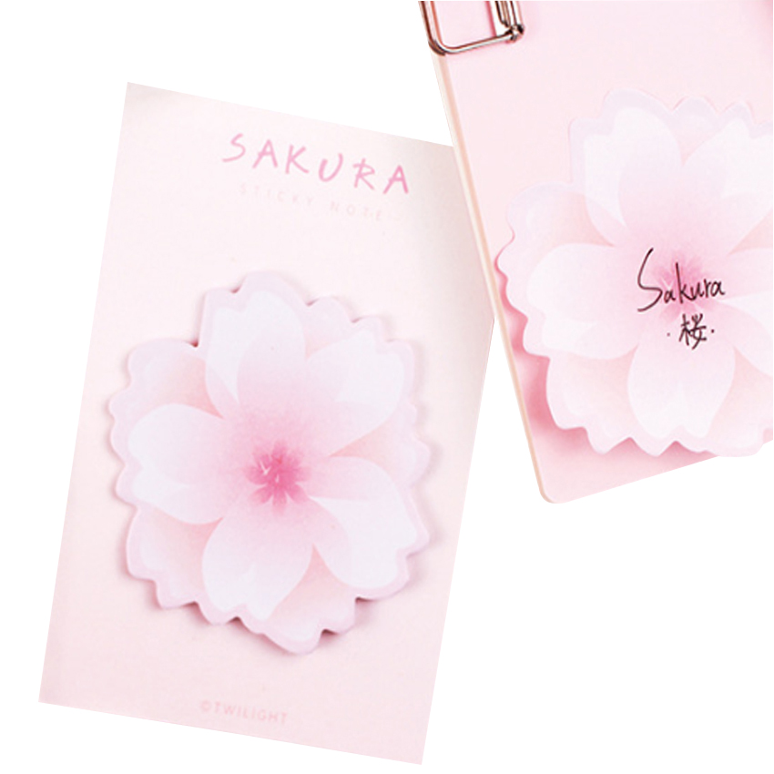 30packs /lot Lovely Cherry Blossoms Sticky Memo Pad N Times Sticky Notes School Stationery for Children
