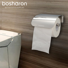 WC toalettpapperhållare rostfritt stål väggmonterad hållbar rullvävnad papperskorg badrumstillbehör hem organisation förvaring